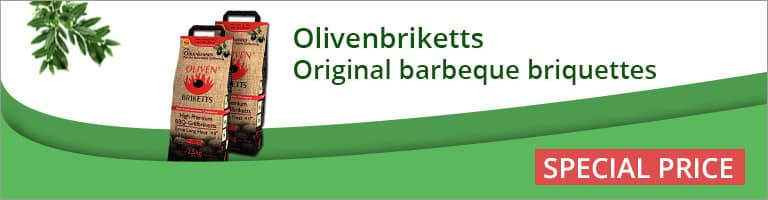 Olivenbriketts Original Barbeque Briquettes