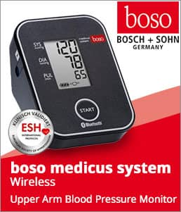 boso medicus system wireless upper arm blood pressure monitor