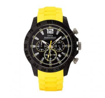 Luca Maranello RAPIDAMENTE Chronograph Carbon Black / Yellow G4909E1