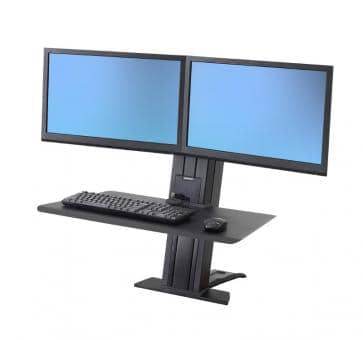 Ergotron WorkFit-SR Dual Monitor black Short Surface Sit-Stand Desktop Workstation 33-419-085