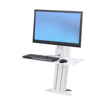 Ergotron WorkFit-SR Single Monitor white Short Surface Sit-Stand Desktop Workstation 33-420-062