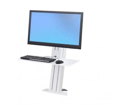 Ergotron WorkFit-SR Single Monitor heavy white Short Surface Sit-Stand Desktop Workstation 33-421-062