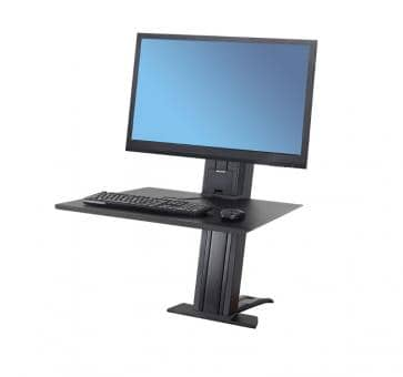 Ergotron WorkFit-SR Single Monitor heavy black Sit-Stand Desktop Workstation 33-416-085
