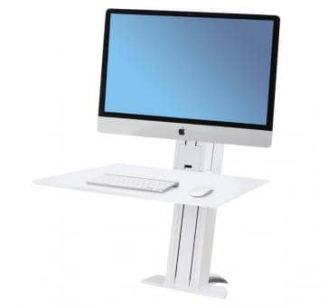 Ergotron WorkFit-SR Single Monitor heavy white Sit-Stand Desktop Workstation 33-416-062