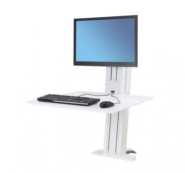 Ergotron WorkFit-SR Single Monitor white Sit-Stand Desktop Workstation 33-415-062