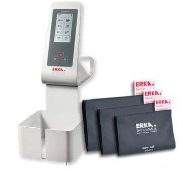 ERKA Erkameter E Flex Upper Arm Blood Pressure Monitor, Green Cuff Smart Rapid Set